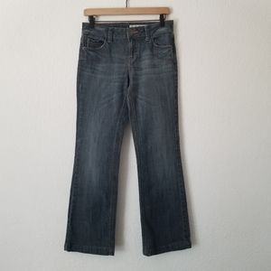 DKNY Distressed Boot Cut Jeans 4